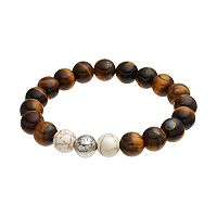 Wish Upon A Rock Men's Tiger's-Eye Beaded Stretch Bracelet