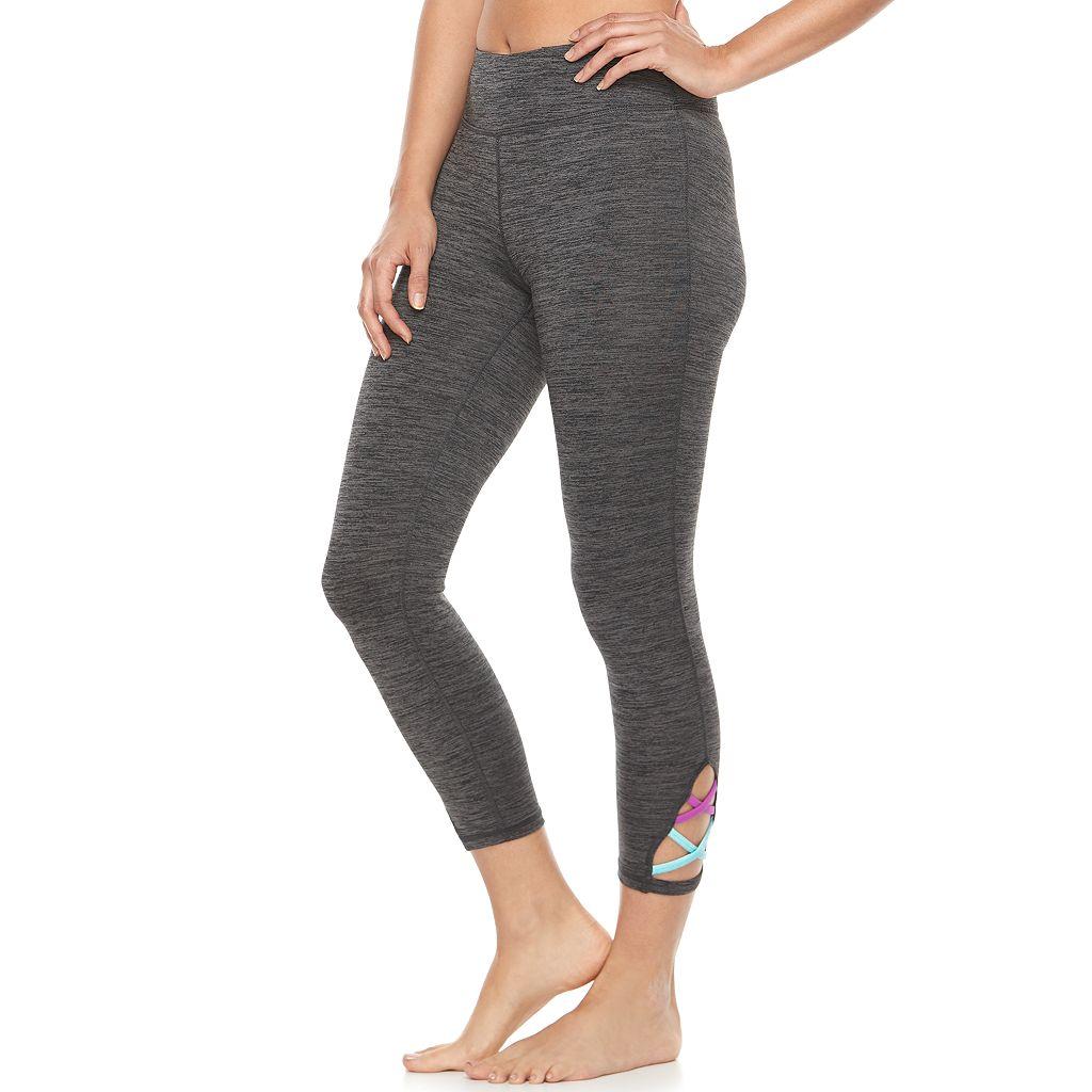 Women's Gaiam Om Crisscross Yoga Capri Leggings