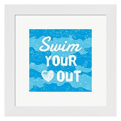Metaverse Art 'Swim Your Heart Out' Framed Wall Art