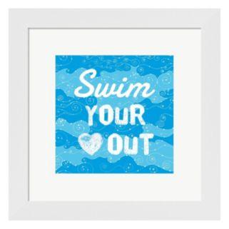 """Metaverse Art """"Swim Your Heart Out"""" Framed Wall Art"""