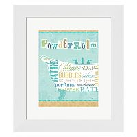 Metaverse Art Bathroom Words Tub I Framed Wall Art