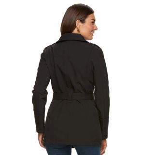 Women's Towne by London Fog Belted Soft Shell Jacket