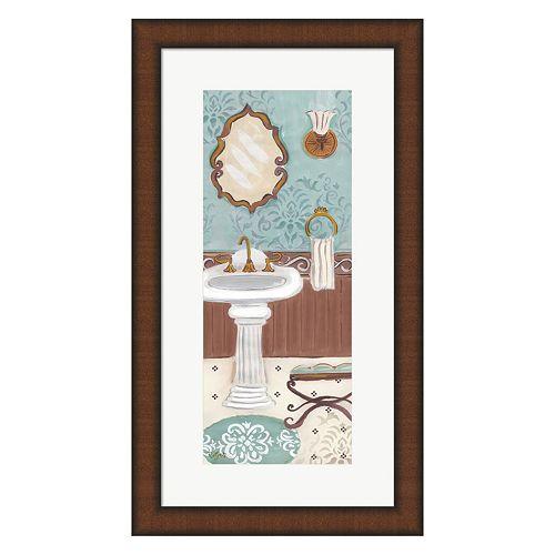 Metaverse Art Fancy Bath Panel I Framed Wall Art