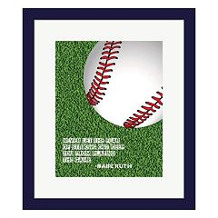 Metaverse Art 'The Fear Of Striking Out' Baseball Framed Wall Art