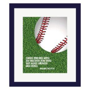 "Metaverse Art ""The Fear Of Striking Out"" Baseball Framed Wall Art"