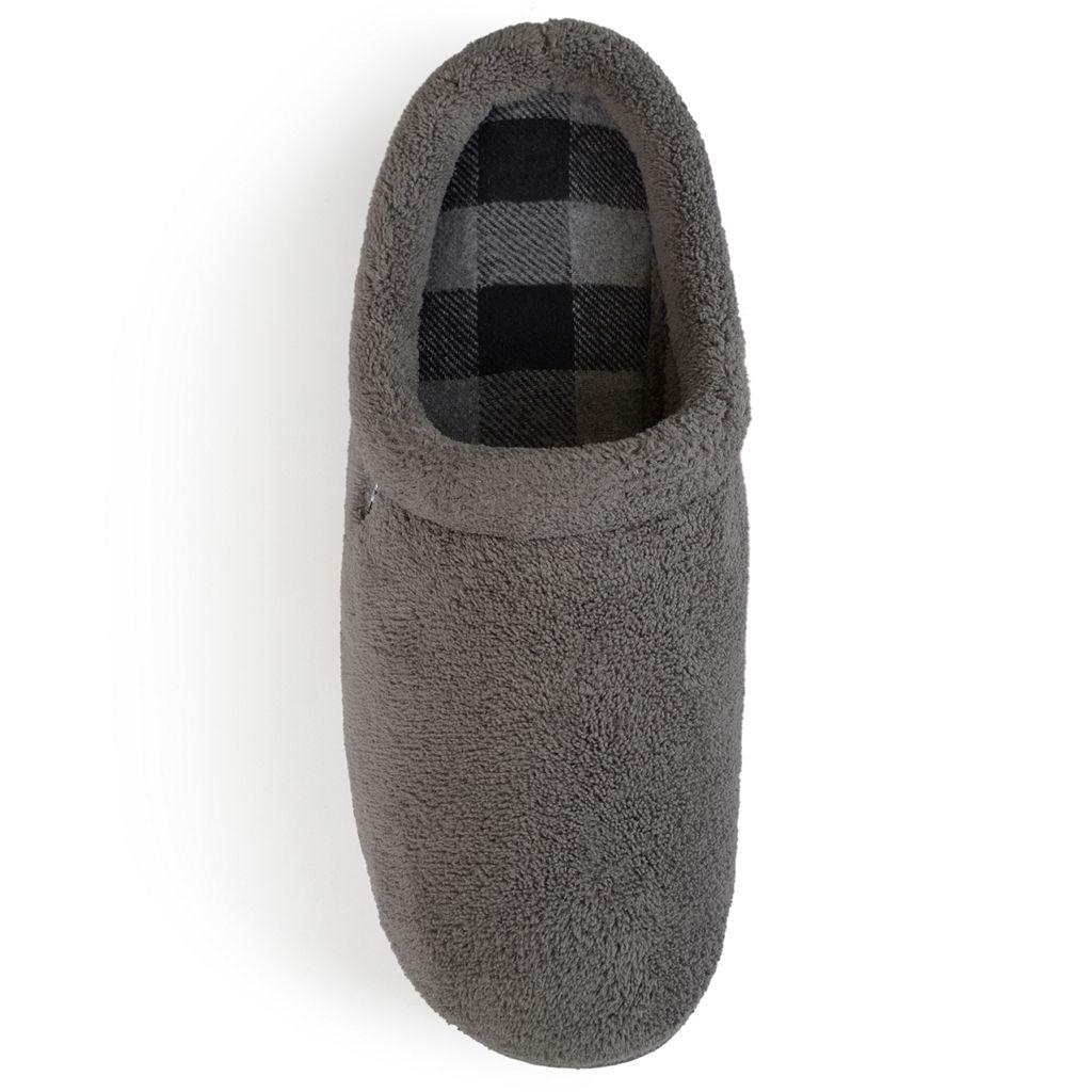 Perry Ellis Men's Fleece Clog Slippers