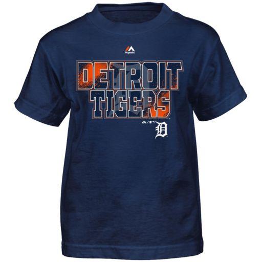 Boys 4-7 Majestic Detroit Tigers Spark Tee