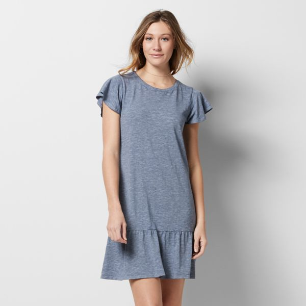 Women's SONOMA Goods for Life Flounce T-Shirt Dress