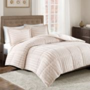 Madison Park Duke Faux Fur Comforter Set