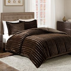 Madison Park Duke Faux Fur Comforter Set
