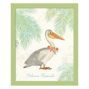 Metaverse Art Flamingo Tropicale I Framed Wall Art