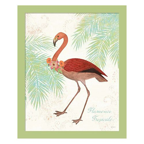 Metaverse Art Flamingo Tropicale II Framed Wall Art