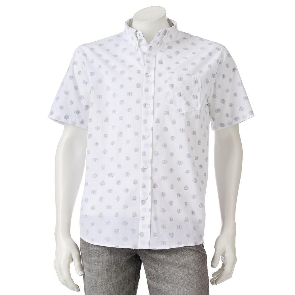 Men's Star Wars Trooper Polka Dot Button-Down Shirt