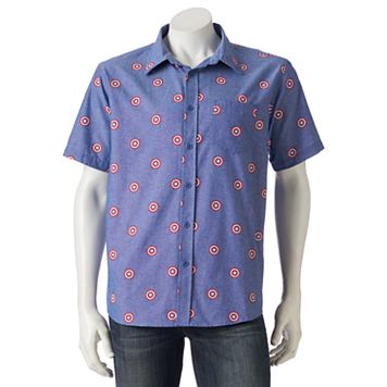 Men's Marvel Captain America Button-Down Shirt