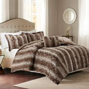 Madison Park Marcelle Faux Fur Comforter Set