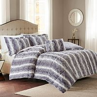 Madison Park Zuria Faux Fur Comforter Set