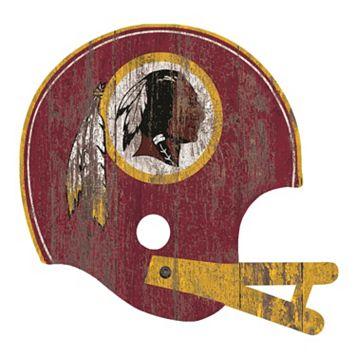 Washington Redskins Distressed Helmet Cutout Wall Art