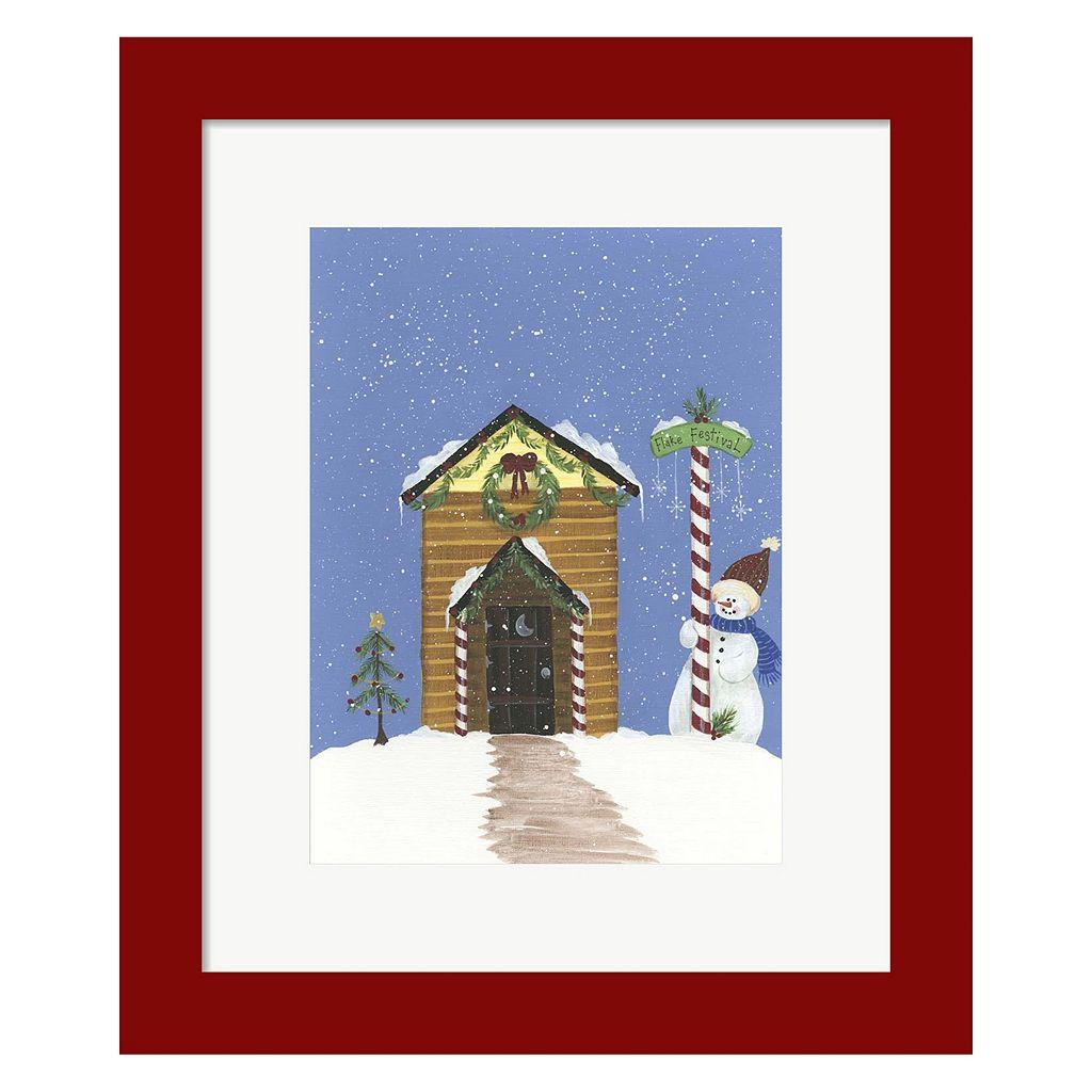 Metaverse Art Log Outhouse Framed Christmas Wall Art
