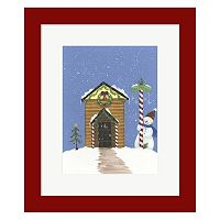 Metaverse Art Log Outhouse Framed Christmas Wall Art