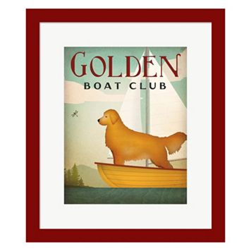 Metaverse Art Golden Sail Framed Wall Art