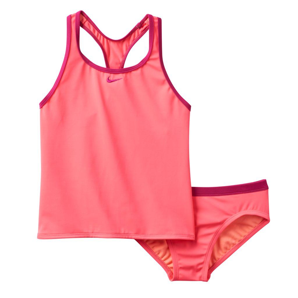 Girls 7-14 Nike 2-pc. Racerback Tankini Swimsuit Set