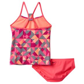 Girls 7-14 Nike Racerback Tankini Swimsuit Set