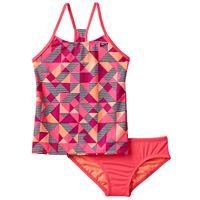 Girls 7-14 Nike Racerback Tankini Swimsuit Set