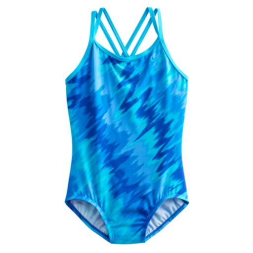 Girls 7-14 Nike Abstract One-Piece Swimsuit