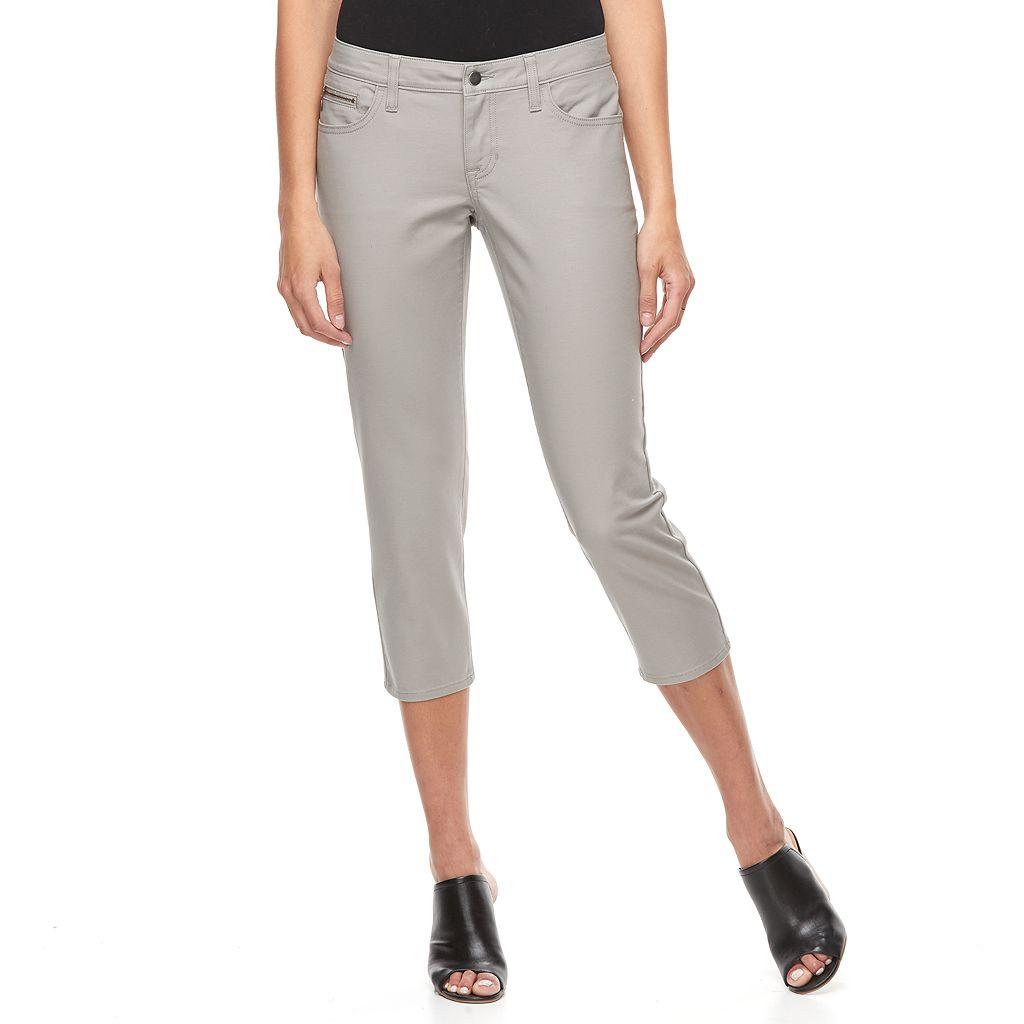 Women's Apt. 9® Zipper-Pocket Slim Capris