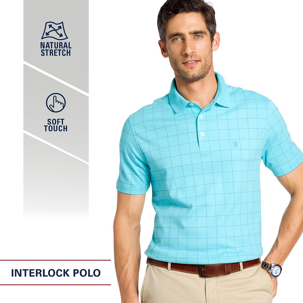 Men's IZOD Interlock Solid Polo