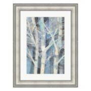 Metaverse Art Winter Birches I Framed Wall Art