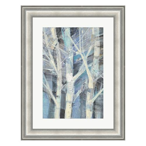 Metaverse Art Winter Birches I Framed Wall Art