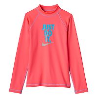 Girls 7-18 Nike Swim Long-Sleeved Rashguard