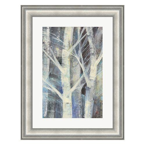 Metaverse Art Winter Birches II Framed Wall Art