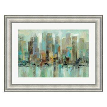 Metaverse Art Morning Reflections Framed Wall Art