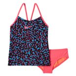 Girls 7-14 Nike Swim Leopard Tankini Swimsuit Set