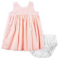 Baby Girl Carter's Empire Waist Print Dress & Bloomers Set