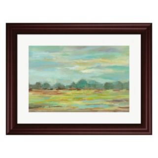 Metaverse Art Teal Forest Crop Framed Wall Art