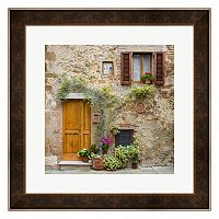 Metaverse Art Pienza Facade #2 Framed Wall Art