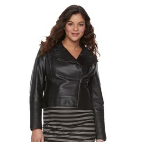 Maternity a:glow Faux-Leather Moto Jacket