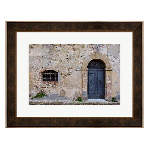 Metaverse Art Monticchiello Facade Framed Wall Art