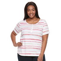 Plus Size Croft & Barrow® Henley Tee