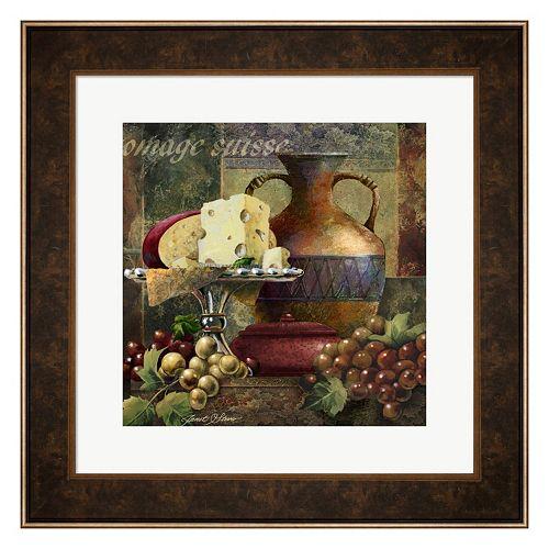 Metaverse Art Cheese & Grapes II Framed Wall Art