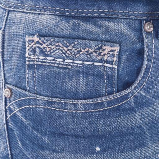 Juniors' Amethyst Bleach Splatter Ankle Skinny Jeans