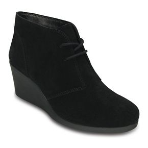 Crocs Leigh Women's Lace-up Wedge Ankle Boots