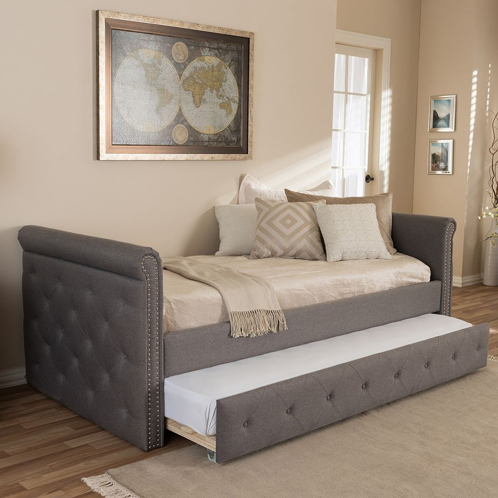 Baxton Studio Swanson Twin Day Bed & Trundle