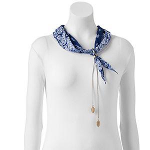 Mudd® Paisley Border Bandana Necklace Scarf