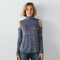 Women's SONOMA Goods for Life™ Cold-Shoulder Marled Tee