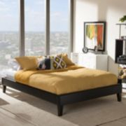 Baxton Studio Lancashire Faux Leather Bed Frame