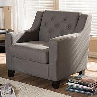 Baxton Studio Arcadia Contemporary Arm Chair